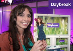 Princess Catherine Doll at the ITV Daybreak studios with tv presenter Christine Bleakley.