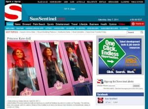 Princess Catherine Doll in the Florida Sun Sentinel