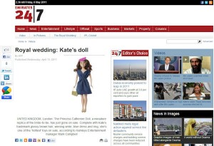 Princess Catherine Doll in Emirates 247