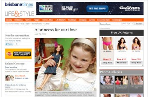 Princess Catherine Doll in the Brisbane Times