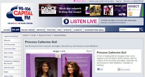 Princess Catherine Doll on Capital FM Radio