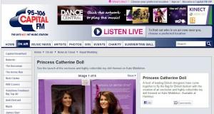 Princess Catherine Doll on Capital FM Radio