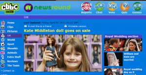 Princess Catherine Doll on CBBC