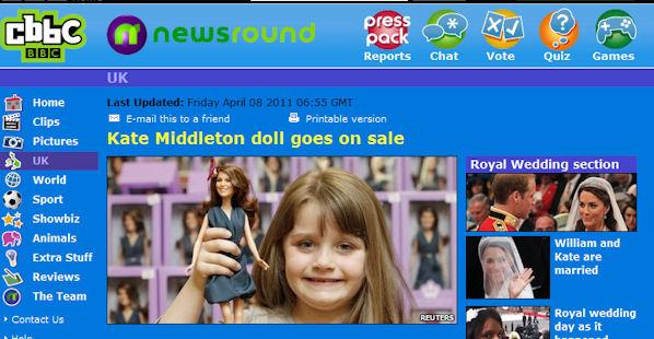 Princess Catherine Doll on CBBC