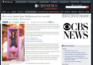 Princess Catherine Doll on CBS News