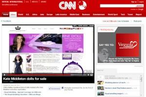 Princess Catherine Doll on CNN