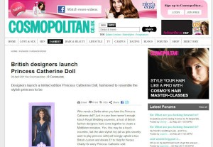 Princess Catherine Doll in Cosmopolitan Magazine