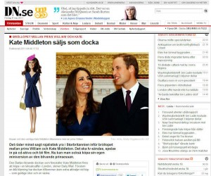 Princess Catherine Doll on the Swedish DN.se