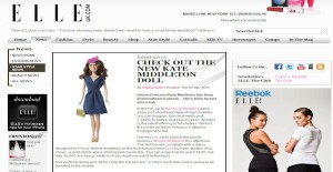 Princess Catherine Doll in Elle magazine