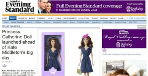 Princess Catherine Doll in the Evening Standard