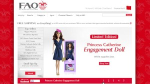 Princess Catherine Doll on sale in the USA at FAO Schwarz in New York and online at www.fao.com