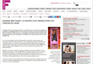 Princess Catherine Doll on Swiss Femina.ch