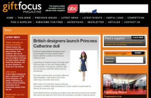 Princess Catherine Doll in Gift Focus Magazine