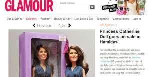 Princess Catherine Doll in Glamour Magazine