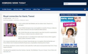Princess Catherine Doll in Hebrides News Today