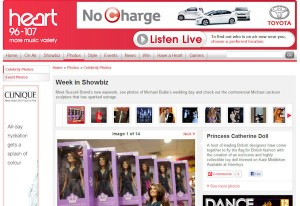 Princess Catherine Doll on Heart Radio