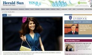 Princess Catherine Doll in the Herald Sun