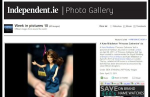 Princess Catherine Doll in the Irish Independent