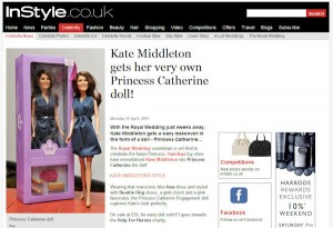 Princess Catherine Doll in InStyle magazine