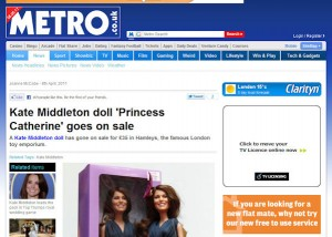 Princess Catherine Doll in the Metro