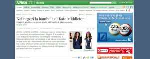 ANSA la bambola di Kate Middleton