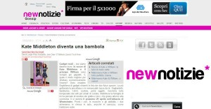 Princess Catherine Doll in Italian newspaper New Notizie