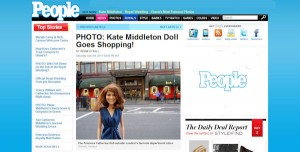 Princess Catherine Doll in USA People Magazine