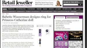 Princess Catherine Doll in Retail Jeweller Magazine