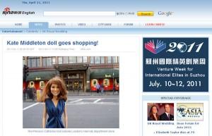 Princess Catherine Doll on Sina English