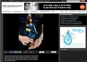 Princess Catherine Doll in The Australian