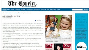 Princess Catherine Doll in The Courier