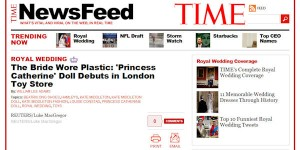 Princess Catherine Doll in Time Magazine