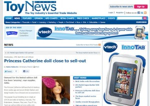 Princess Catherine Doll in ToyNews