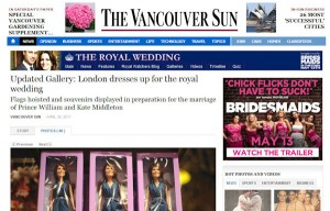 Princess Catherine Doll in the Vancouver Sun