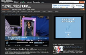 Princess Catherine Doll in the Wall Street Journal
